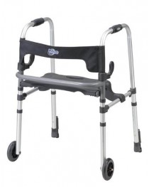 Clever-Lite Walker w/Seat & Push-Down Brakes