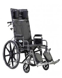Wheelchair Full Reclining 22  W/Removable Desk Arms