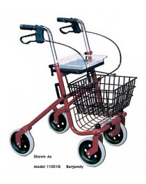 Rollator 4-Wheel Steel-Loop Bk Winnie Wlkr Nannie Burgundy