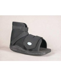 Slimline Cast Boot Black Sq. Toe   Extra-Small Adult