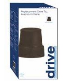 Cane Tips  3/4   Black  8pr/cs