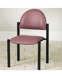Waiting Room Black Frame Chair w/o Arms