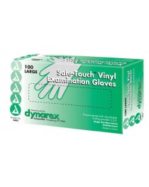 Vinyl Exam Gloves Powder-Free Box/100  Large