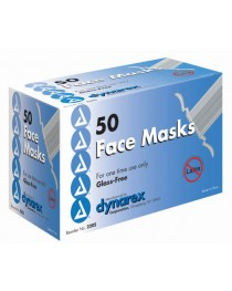 Face Masks  Tie-On Style w/Plastic Shield  Bx/50
