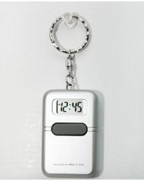 Talking Keychain Clock-English Silver