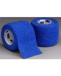 Coban Self-Adherent Wrap 2 x5 Yd Blue Bx/36