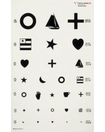 Illuminated Eye Chart Kindergarten 20' Distance