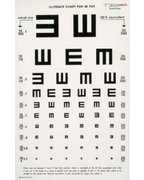 Illuminated Eye Chart 10' Distance  Illiterate