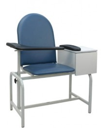Padded Blood Drawing Chair w/ Cabinet
