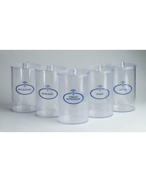 Sundry Jars- Plastic Labeled Set/5