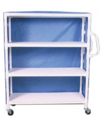 PVC Supply Cart w/ Ergonomic Handles- wt cap: 125lbs./Shelf