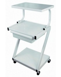 Z-Cart Steel 3-Shelf w/Drawer White