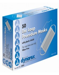 Face Mask With Ear Loops Bx/50