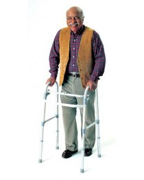 Single Button Adult Folding Walker