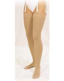 Stocking Thigh Hi 30-40 Beige Medium/ Stay Up/Beaded